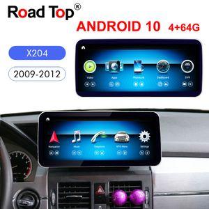 "10.25"" Qualcomm Android 10 Car Radio GPS Navigation Bluetooth WiFi Head Unit Screen For Mercedes GLK Class Car X204 2009-2012"