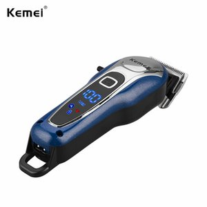 2020 Hot Sale Kemei Professional Hair Trimmer Rechargeable Clipper Men Beard Shaver Electric Hair Cutting Machine Barber 100 240V pt2009 TkW