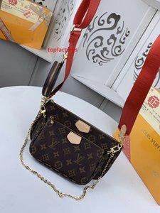 #6597 Brand Hot Top Quality MULTI POCHETTE ACCESSORIES Design Shoulder Bags Fashion Women 3pcs Bags with Wallet Purse M44813 M44823 M44840