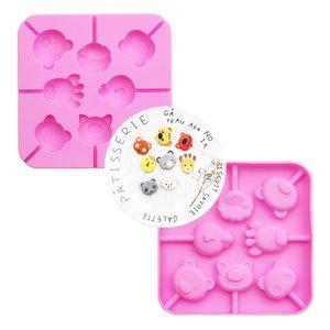 8 Même Animal Collection gel de silice Lollipop Moule Moule de chocolat avec 20 Bang Bang