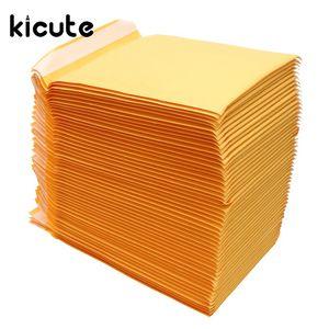Kicute 50pcs / lot Kraft sprudeln Werbungen aufgefüllte Umschlag Versandtaschen Selbstdichtungs-Qualitäts-Business School Bürobedarf