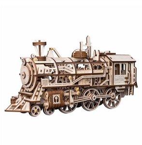 4 أنواع DIY 3D لغز خشبي لعبة القطع بالليزر الجمعية نموذج الميكانيكية لعبة هدية لبوي بنات LK لدروبشيبينغ