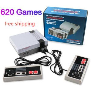 free shipping Mini TV classical 620 500 Game Console Video Handheld For NES Games Consoles With two players