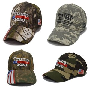 Camouflage Donald Trump Hats USA Flag Baseball Cap Make Keep America Great 2020 Hats Embroidery Star Letter Camo Snapback Sport Cap HH9-2406
