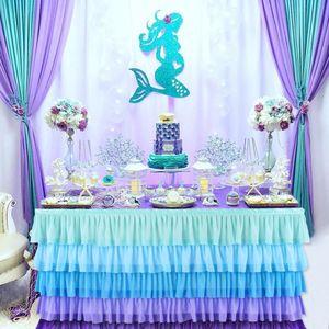 Romantik Küçük Deniz Kızı Parti Malzemeleri Denizkızı doğum günü partisi İlk Doğum Günü Kız Parti Denizkızı Dekor Baby Shower Yana