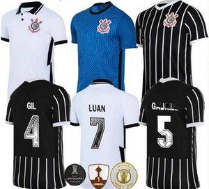 camisas de futebol corinthians 2020 2021 Camisetas coríntias casa longe GIL RONALDO LUAN FAGNER PEDRINHO 20 CAMISA 21 NETO homens crianças kit FUTEBOL