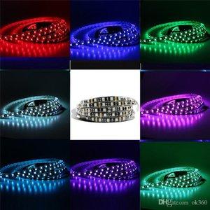Black PCB LED Strip 5050 DC12V IP65 Waterproof 60LED m 5m lot White Warm White Red Green Blue RGB Flexible Decoration Lighting