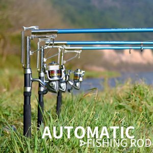 Automatic Fishing Rod (Without Reel) Sea River Lake Stainless Steel Automatic Fishing Rod Fish Pole 1.8m 2.1m 2.4m 2.7m