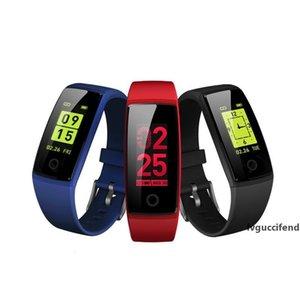 Presión V10 inteligente pulseras rastreador de ejercicios pulsera color LCD monitor de ritmo cardíaco sangre Relojes Pulsera Muñequera podómetro
