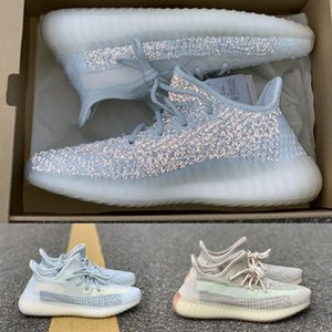 Lundmark réfléchissant Kanye West Women '; S Chaussures Gid Green Men', et des femmes, S Designer Casual Shoes V2