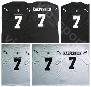 Imwithkap Filme 7 Colin Kaepernick Football Jersey Homens Universidade preta branca da equipe Longe IM COM KAP Conheço meus direitos respirável quente