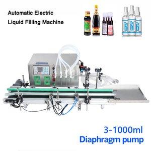 Escritorio automática CNC Liquid Filling Machine Con Transportadores en Perfume de llenado Máquinas que hace la máquina 3-1000ml diafragma Botella bomba de agua