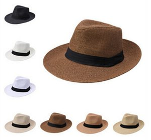 2020 new straw hat, ladies hat, summer straw hat, men and women big cowboy hats Panama Straw Hats Outdoor Sports Caps Wide Brim Hats