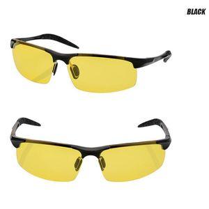 2020 Nuovi driver frame occhiali da sole polarizzati con alluminio-magnesio uomo tenperament Occhiali da sole Night Vision Goggles anabbagliante Sunglass