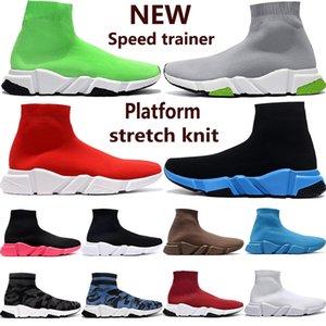 2020 моды Speed Trainer мужчины женщины носок вскользь тройных черного Белого Неон серой королевской PRUNE MENS стилиста кроссовки США 5.5-11