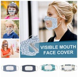 Masque Visage Lèvres Anti brouillard clairs Masques de protection anti-poussière visuelle Masques bouche extérieure reuasble enfants adultes masques YYA254