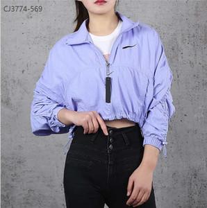 New Arrival Womens Jacket with Zipper Fashion Autumn Windbreak Jackets Purple Colors Women Casual Sports Jacket Size S-XL