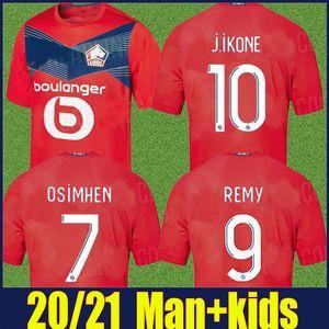 2020 LOSC Lille soccer jerseys kids kit OSIMHEN J.IKONE football shirts CELIK BAMBA GABRIEL soccer uniform Maillot de Lille Olympique 20 21