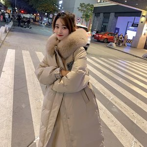 Thick Coat Winter Coat Women Clothes Korean Fur Collar White Duck Down Fur Women Hooded Warm Down Jackets Outwears