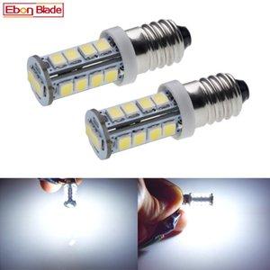 쌍 화이트 E10 나사 LED 업그레이드 전구 2835 18SMD 비상 조명 램프 슈퍼 밝은 들어 토치 자전거 모터 6V 12V 24V DC