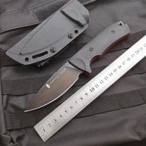 Special Offer Outdoor Survival Straight Knife VG10 Drop Point Black Blade Full Tang G10 Handle Fixed Blade Knives With Kydex