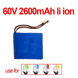 monociclo batería 60v 2.6Ah de litio 2600mAh 18650 células marca GTK no 2200mAh 60V 2.2Ah o con BMS para la vespa