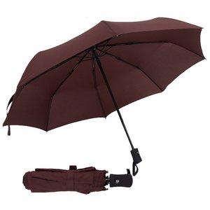 Hot Sale Full Automatic Umbrella Rain Women Men 3 Folding Light and Durable 386g 8K Strong Umbrellas Kids Rainy Sunny Wholesale Price