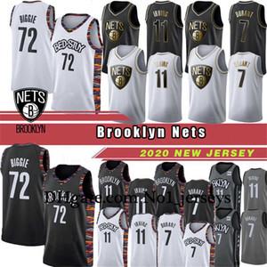 케빈 7 듀란트 남성 새로운 Kyrie 브루클린프로 농구 (NBA)네츠# 11 어빙 비기 (72) 작은 도시 스펜서 8 딘 위디 판 농구 유니폼