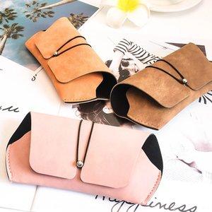 New fashion case case Storage glasses frosted wallet leather ladies temperament sun glasses box elegant portable storage box