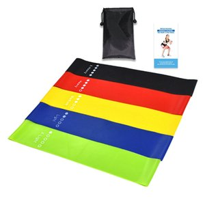 Home Sports Latex Resistance Bands Workout Exercise Yoga Resistance Band Elastic Fitness Pull Band 5Pcs Set ZZA2073 20Sets