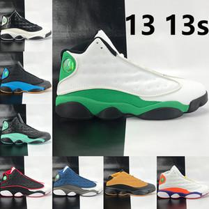 13 nouveaux verts chanceux 13s chaussures de basket-ball Jumpman il a inverse jeu terrain de jeu Chris Paul Loin des hommes de bas chutney Sneakers US 7-13