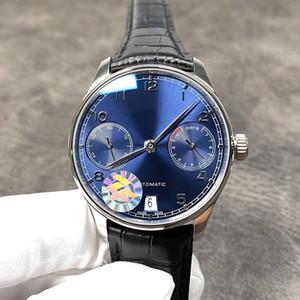 YENİ üst ZF üretimi Boyut 42.3 mm * 14.1 mm Çift - yansıtıcı dışbükey safir cam masa ayna Timsah derisi Watchband - Anti taraflı