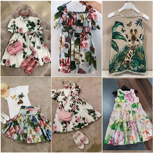 In Stcok BoBomoon 2020 Summer Baby Girls Casual Dresses Fashion Beach Christmas PARTY Dress Thanksgiving Girls Princess Dress T200709