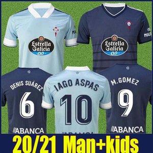 رجل والاطفال 2020 2021 RC سيلتا فيغو كرة القدم جيرسي LOBOTKA ياغو أسباس SANTL MINA الاطفال كرة القدم قميص SISTO BOUFAL camiseta فوتبول كيت