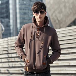 2020 de los nuevos hombres otoño e invierno nuevo comercio exterior de los hombres de moda de Europa y América sudaderas color puro de la manera ocasional
