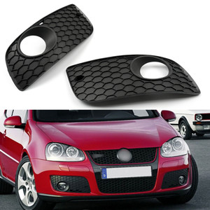 Areyourshop Car ABS Mesh Front Bumper Fog Light Cover Grille Fit For VW GOLF 2006-2009 MK5 GTI Car Auto Accessories Parts