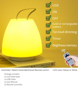 LED Decoration Cordless Table Light Chargeable Infared Remote Control Night light Portable lamp for bedroom