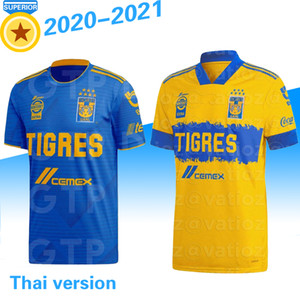 2020 TIGRES Futebol CASA LONGE PIZARRO 19 SALCEDO 3 LOPEZ 11 CARIOCA 5 AQUINO 20 QUINONES 23 VARGAS 9 20 21 camisa de futebol CAMISAS