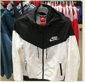 Jacket homens mulheres casaco camisola com capuz manga comprida Autumn Sports Zipper Windbreaker Mens Roupa Plus Size Hoodies tamanho asiático Windbreaker