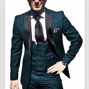 Classic Peak Lapel tuxedos groom wedding men suits mens wedding suits tuxedo costumes de pour hommes men(Jacket+Pants+Tie+Vest) W135