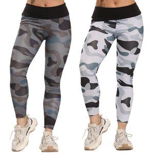 CROSS1946 Camouflage Aptidão fêmea Leggings poliéster respirável Correndo Calças Leggins Mulheres Padrão Dobre Push Up Leggin
