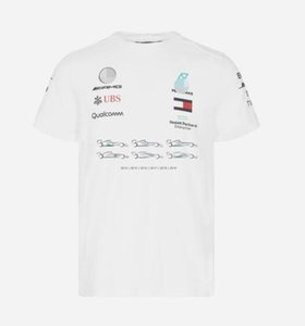 2019 F1 Formula One racing suit short-sleeved T-shirt team suit 2019W10 Hamilton 6 crown round neck Tee