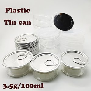Plastic Cans Food Packaging Clear Cans 100ml Can 3.5g Child Resistant Non-spill Healthy Food Grade Water Proof Dry Herb Storage Flowers
