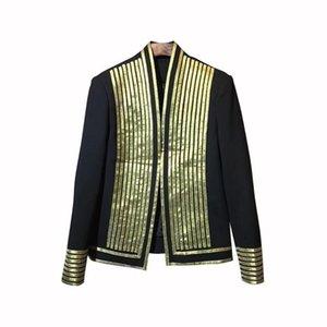 2020 Autunno Notte Divisione Hairstyle personalità casacca marea Oro Surround Uomini Cappotto maschio Trend Blazers vestito dell'uomo