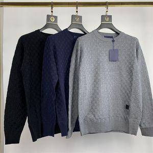 2020 FW Nuovo arrivo abbigliamento sopra degli uomini di qualità Progettista ROND DAMIER Maglie maniche lunghe M-2XL