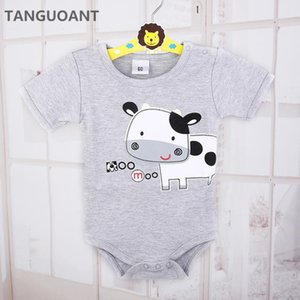 TANGUOANT Drop shipping Newborn Baby clothes,Cow Printed Infantil Romper,Cartoon Baby rompers,Cotton girl and boy clothes