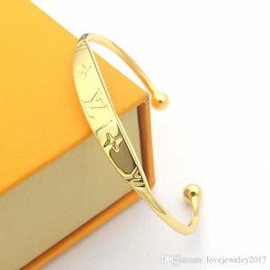 Kadınların dört yapraklı çiçek C şekli bilezik açık pulsera Altın bilezik Güzel takı logo lüks tasarımı ile sıcak satış altın Manşet Bileklik