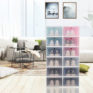 Shoe Storage Flip Box Household Transparent Shoes Drawer CasePeach Heart thickening Cabinet High Quality Organizer Hot Sale 2 75fd B2