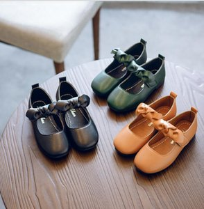 Spring 2020 girls' single shoes wholesale bow princess shoes student square mouth shoes special price for big children