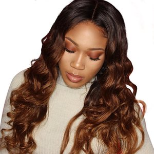 13x6 Deep Parting 250 Density Lace Front Human Hair Wigs for Black Women Ombre Honey Blonde Lace Front Wig Body Wave Remy Hair